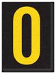Engineer Grade Vinyl, 1.5 Inch Letter, Yellow on Black O