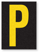 Engineer Grade Vinyl, 1.5 Inch Letter, Yellow on Black P
