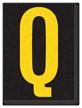 Engineer Grade Vinyl, 1.5 Inch Letter, Yellow on Black Q