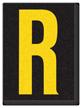 Engineer Grade Vinyl, 1.5 Inch Letter, Yellow on Black R