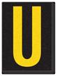 Engineer Grade Vinyl, 1.5 Inch Letter, Yellow on Black U