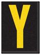 Engineer Grade Vinyl, 1.5 Inch Letter, Yellow on Black Y