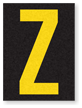 Engineer Grade Vinyl, 1.5 Inch Letter, Yellow on Black Z