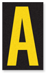Engineer Grade Vinyl, 2.5 Inch Letter, Yellow on Black A