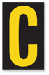 Engineer Grade Vinyl, 2.5 Inch Letter, Yellow on Black C