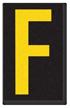 Engineer Grade Vinyl, 2.5 Inch Letter, Yellow on Black F
