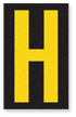 Engineer Grade Vinyl, 2.5 Inch Letter, Yellow on Black H