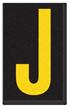 Engineer Grade Vinyl, 2.5 Inch Letter, Yellow on Black J