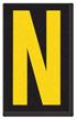 Engineer Grade Vinyl, 2.5 Inch Letter, Yellow on Black N