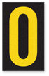 Engineer Grade Vinyl, 2.5 Inch Letter, Yellow on Black O
