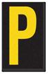 Engineer Grade Vinyl, 2.5 Inch Letter, Yellow on Black P