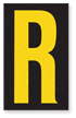 Engineer Grade Vinyl, 2.5 Inch Letter, Yellow on Black R