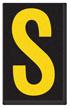 Engineer Grade Vinyl, 2.5 Inch Letter, Yellow on Black S