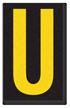 Engineer Grade Vinyl, 2.5 Inch Letter, Yellow on Black U