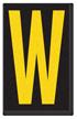 Engineer Grade Vinyl, 2.5 Inch Letter, Yellow on Black W