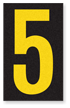 Engineer Grade Vinyl, 2.5 Inch Number, Yellow on Black 5