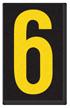Engineer Grade Vinyl, 2.5 Inch Number, Yellow on Black 6