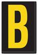 Engineer Grade Vinyl, 3.75 inch Letter, Yellow on Black, B