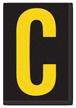 Engineer Grade Vinyl, 3.75 inch Letter, Yellow on Black, C