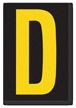 Engineer Grade Vinyl, 3.75 inch Letter, Yellow on Black, D