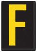Engineer Grade Vinyl, 3.75 inch Letter, Yellow on Black, F