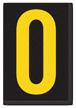 Engineer Grade Vinyl, 3.75 inch Letter, Yellow on Black, O