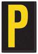 Engineer Grade Vinyl, 3.75 inch Letter, Yellow on Black, P
