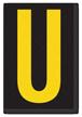 Engineer Grade Vinyl, 3.75 inch Letter, Yellow on Black, U