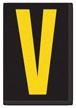 Engineer Grade Vinyl, 3.75 inch Letter, Yellow on Black, V