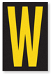 Engineer Grade Vinyl, 3.75 inch Letter, Yellow on Black, W