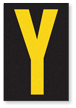 Engineer Grade Vinyl, 3.75 inch Letter, Yellow on Black, Y
