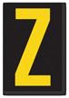 Engineer Grade Vinyl, 3.75 inch Letter, Yellow on Black, Z