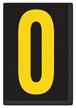 Engineer Grade Vinyl, 3.75 inch Number, Yellow on Black, 0