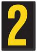 Engineer Grade Vinyl, 3.75 inch Number, Yellow on Black, 2
