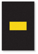 Engineer Grade Vinyl, 3.75 inch, Yellow on Black, Dash