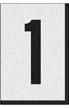 Engineer Grade Vinyl Numbers Letters Black on white 1