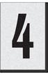 Engineer Grade Vinyl Numbers Letters Black on white 4