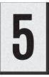 Engineer Grade Vinyl Numbers Letters Black on white 5