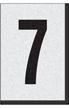 Engineer Grade Vinyl Numbers Letters Black on white 7