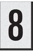 Engineer Grade Vinyl Numbers Letters Black on white 8