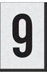 Engineer Grade Vinyl Numbers Letters Black on white 9