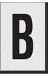 Engineer Grade Vinyl Numbers Letters Black on white B