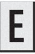 Engineer Grade Vinyl Numbers Letters Black on white E