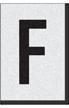 Engineer Grade Vinyl Numbers Letters Black on white F