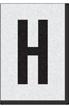 Engineer Grade Vinyl Numbers Letters Black on white H