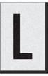 Engineer Grade Vinyl Numbers Letters Black on white L