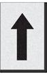 Engineer Grade Vinyl Numbers Letters Black on white Larw