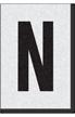 Engineer Grade Vinyl Numbers Letters Black on white N