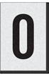 Engineer Grade Vinyl Numbers Letters Black on white O