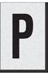 Engineer Grade Vinyl Numbers Letters Black on white P